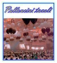 Palloncini ad elio per tavoli ristorante