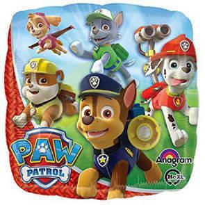 "Pallone Mylar Paw Patrol Cube 18"""