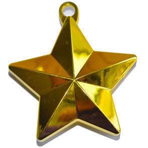Peso con anello forma stella per palloncini 110 grammi