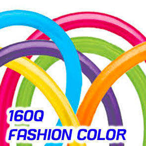Palloncini modellabili 160Q Qualatex Fashion Colors busta da 100 Pz.