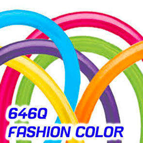 Palloncini modellabili Qualatex 646Q Fashion Colors busta da 100 Pz.