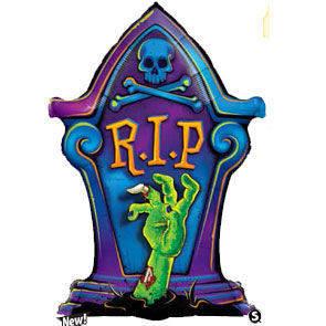 "Pallone mylar RIP Tombstone 36"""