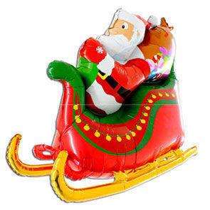 Slitta Babbo Natale 3D 117 cm