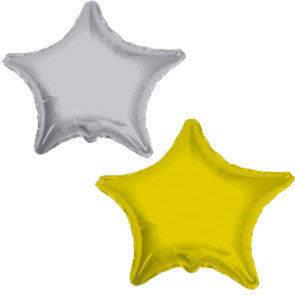 Pallone mylar mini shape Stella Argento e Oro