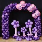 Arco decorato + set 5 fiori