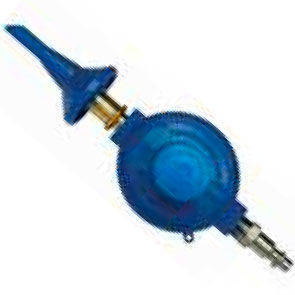 Riduttore per palloni in mylar con blocco di pressione automatico