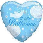Pallone mylar Il mio Battesimo azzurro