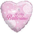 Pallone mylar Il mio Battesimo rosa