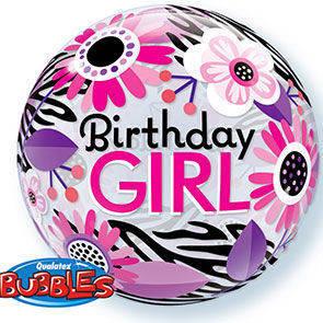 "Bubbles 22"" Birthday Girl"