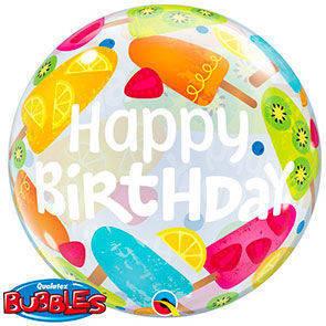 "Bubbles 22"" Happy Birthday Frozen"