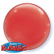 "Bubbles 15"" solid color Rosso"