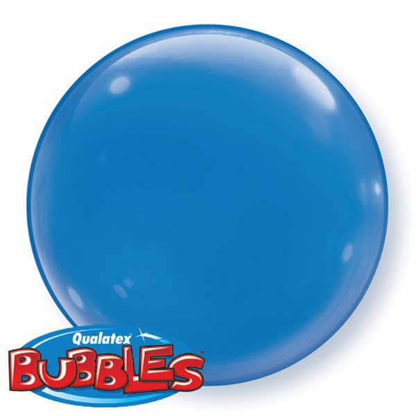 "Bubbles 15"" solid color Blu"