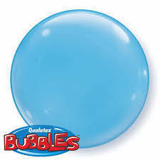 "Bubbles 15"" solid color Azzurro"