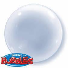 "Bubbles 15"" solid color Trasparente"