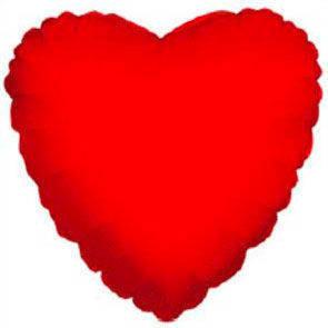 "Cuore mylar 36"" (91cm) rosso"