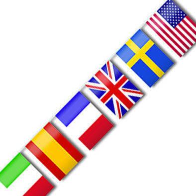 Filare da 10 mt con 24 bandiere Nazioni