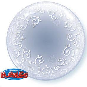 Pallone mylar Bubbles 61 cm Fancy Filigree