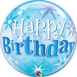 "Bubbles 22"" Happy Birthday Blu"