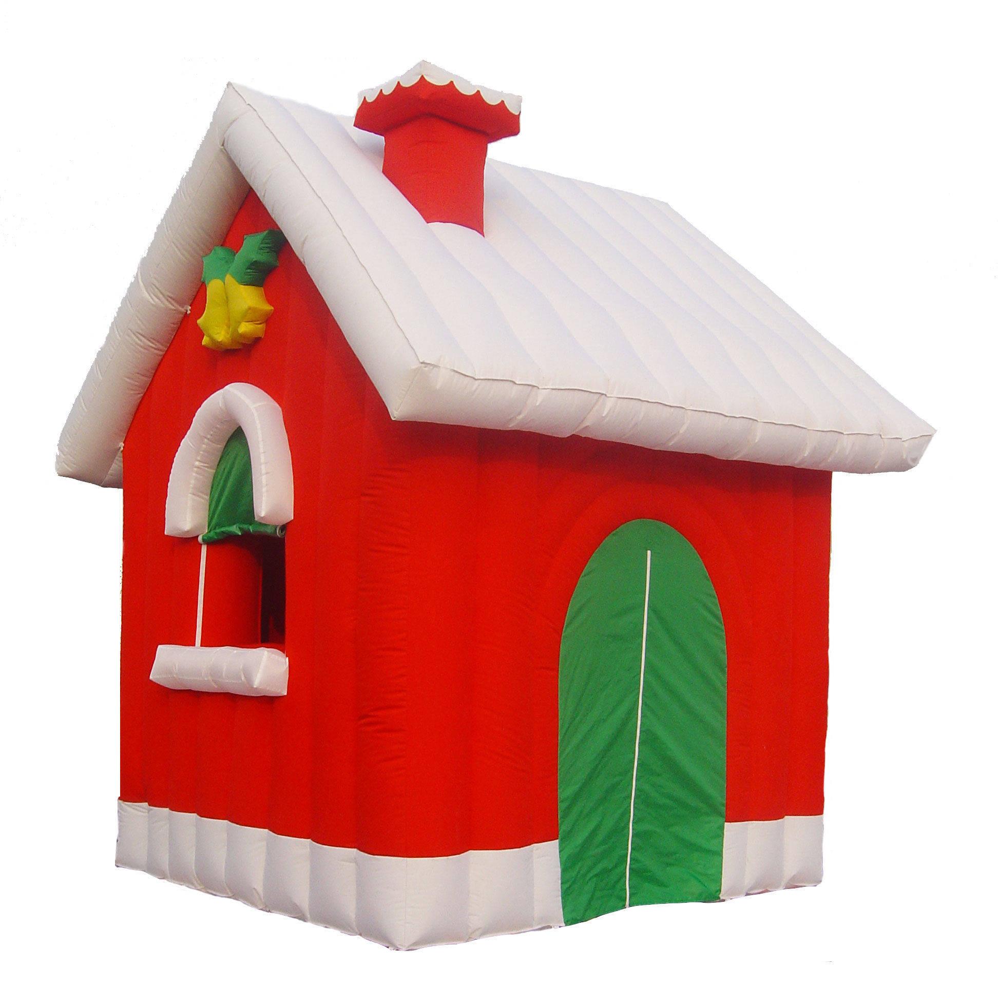 Casa Babbo Natale gonfiabile