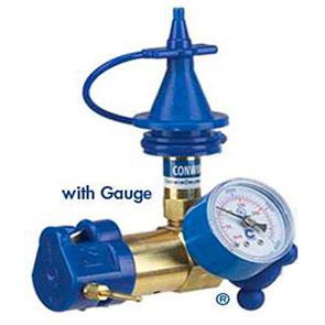Erogatore con indicatore di pressione